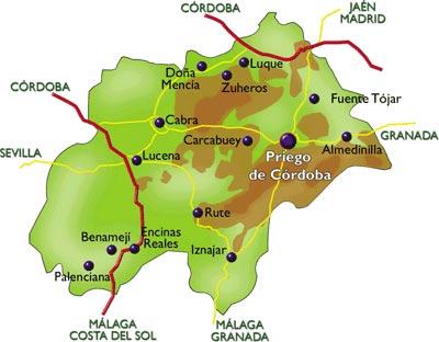 Localización Casas Rurales Priego Rural :: Turismo Rural